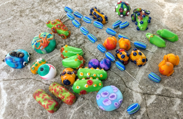 faux lampwork polymer clay
