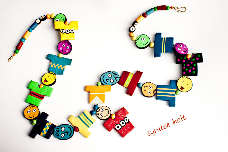polymer clay necklace by syndee holt