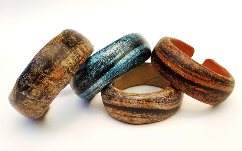 polymer clay bracelets by syndee holt