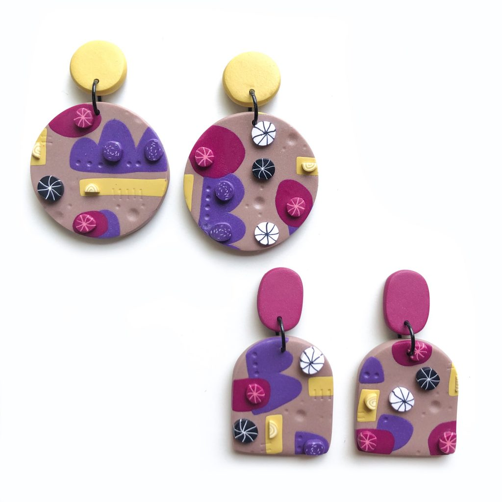 polymer clay earrings heidi helyard