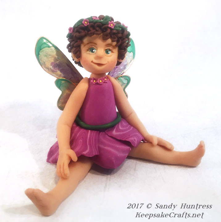 polymer clay fairy isabella sandy huntress