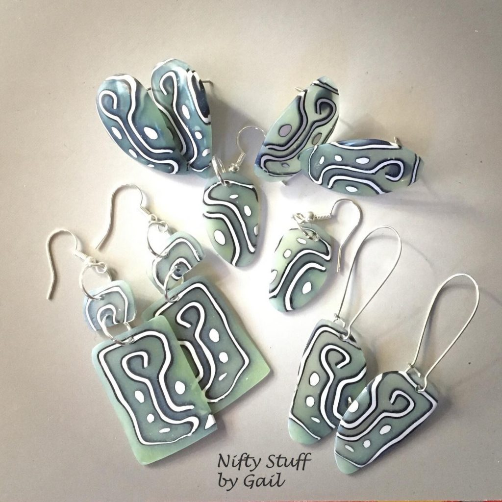 polymer clay earrings by gail garbe
