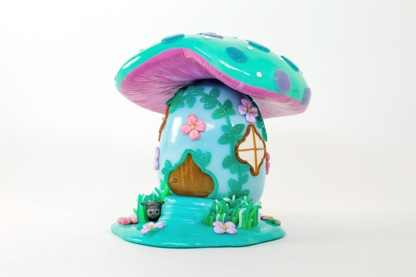 polymer clay mushroom house by Karolina Soderberg