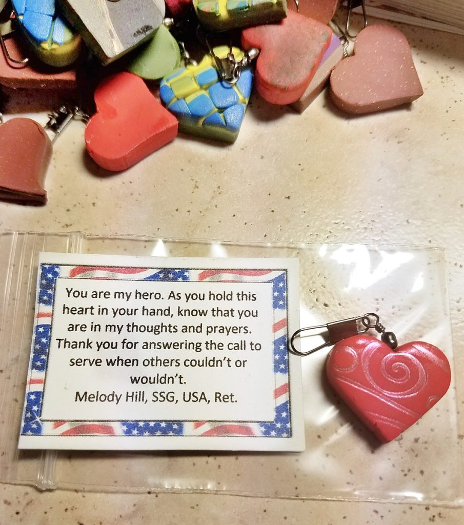polymer clay hearts for heroes by Melody Hill
