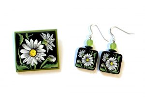 polymer clay cane jewelry by Jayne Dwyer