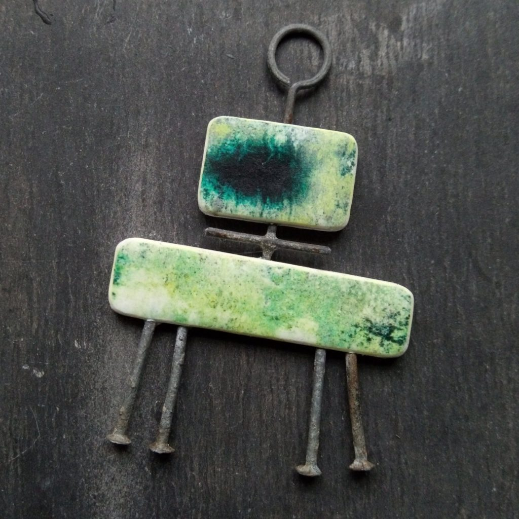 polymer clay image transfer beads by Jon Burgess