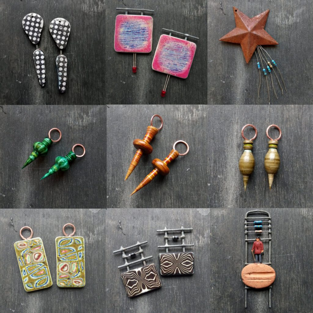rustic polymer clay beads from Jon Burgess